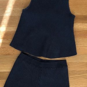 Free People Other - Free People Blue Top and Shorts Set Size Small